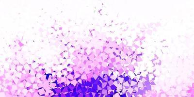 pano de fundo vector roxo, rosa claro com triângulos, linhas.