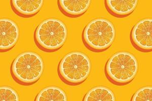 fatias de laranja fresca de fundo de verão vetor