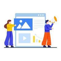 internet ou conceito de marketing online vetor