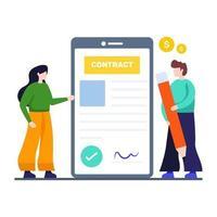 conceito de negócios e contratos vetor