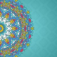 Mandala decorativa com estilo de fundo vetor