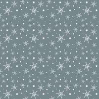 Padrão de floco de neve e estrelas vetor