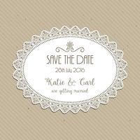Decorativas salvar o convite de data vetor