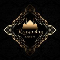 Fundo elegante de Ramadan Kareem