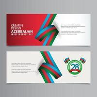 feliz celebração do dia da independência do azerbaijão design criativo ilustração vetorial modelo