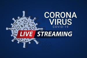 notícias de última hora ao vivo corona vírus covid-19 ilustração de design de modelo vetorial