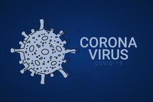 ilustração de design de modelo vetorial corona vírus covid-19