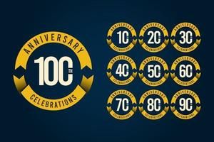 100 anos de comemoração de aniversário logotipo vetor modelo design ilustração