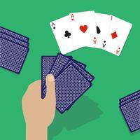 Ilustração em vetor de baralho