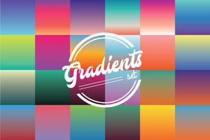 Conjunto de cores de gradientes vetor