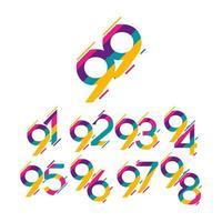 Ilustração em vetor modelo design de logotipo de comemoração de aniversário de 99 anos