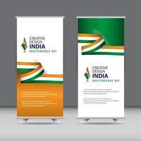 feliz celebração do dia da independência da Índia design criativo ilustração vetorial modelo design