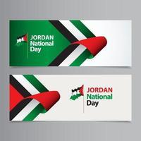 feliz celebração do dia da independência da Jordânia ilustração de design de modelo vetorial vetor