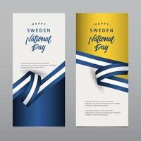 feliz celebração do dia da independência da Suécia design criativo ilustração vetorial modelo design
