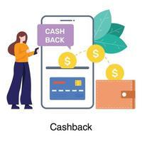 conceito de aplicativo de devolução de dinheiro