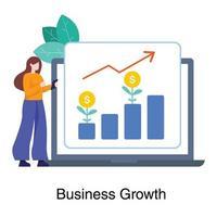 conceito de crescimento de negócios inteligente vetor