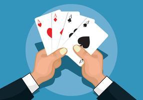 Ilustração de cartas de jogar vetor