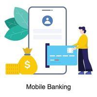 conceito de aplicativo de banco móvel vetor