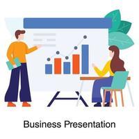 apresentação de negócios ou conceito de análise de dados vetor