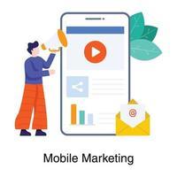 conceito de campanha de marketing móvel vetor