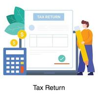 conceito de serviço de declaração de impostos vetor