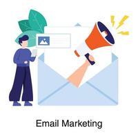 conceito de campanha de marketing por e-mail vetor