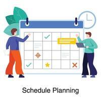 conceito de planejamento e agendamento de trabalho vetor