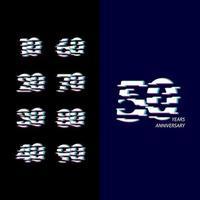 50 anos de celebração de aniversário número ilustração vetorial de design de modelo