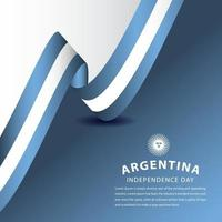ilustração de design de modelo vetorial feliz celebração do dia da independência da Argentina