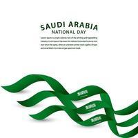ilustração de design de modelo vetorial feliz arábia saudita celebração do dia nacional