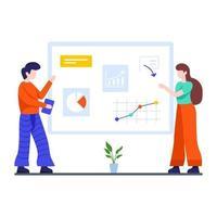 conceito de negócios e trabalho em equipe vetor