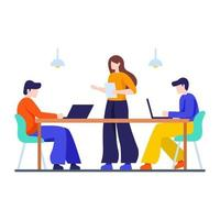 conceito de escritório e colegas de trabalho vetor