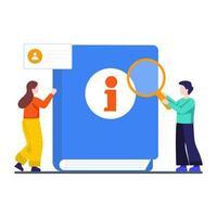 guia do usuário ou conceito do manual vetor