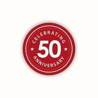 Aniversário de 50 anos comemorando ilustração de design de modelo de vetor vintage retrô