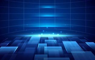 fundo de tecnologia azul vetor