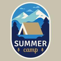 Patch de acampamento de verão vetor