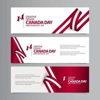 feliz dia da independência do Canadá ilustração modelo vetorial design criativo vetor
