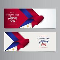 feliz celebração do dia nacional nas Filipinas design criativo ilustração em vetor modelo design