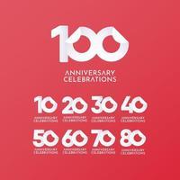 100 anos de comemoração de aniversário de vetor logotipo ícone modelo design ilustração