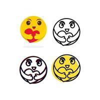smile ilustração de design de modelo vetorial personagem emoticon vetor