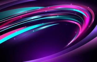 fundo de luz de onda de néon vetor