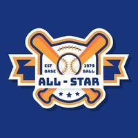 Vetor de logotipo de beisebol