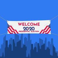 bem-vindo, bandeira, eleição presidencial, estados unidos de 2020 vetor