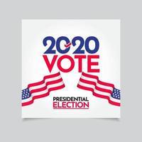 eleição presidencial de 2020 estados unidos ilustração vetorial de design de modelo vetor