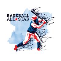 All-Star de beisebol vetor