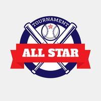 Logotipo de todas as estrelas de beisebol vetor