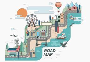 Mapa de estrada Vol 2 Vector