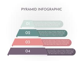Infográfico de pirâmide vetor