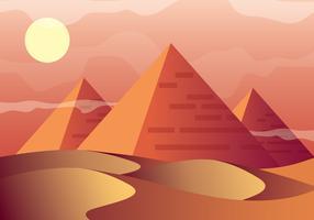Pirâmides, vetorial, ilustração vetor
