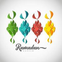 ramadan kareem logotipo colorido modelo desenho ilustração vetorial